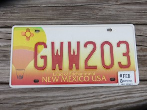New Mexico Hot Air Baloon License Plate 2008