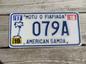 American Samoa Islands Territory License Plate United States 2019