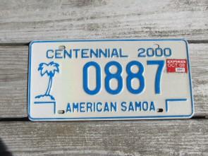 American Samoa Islands Territory Centennial Rental License Plate United States 2008