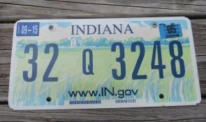 Indiana Farm Scene Website License Plate 2005