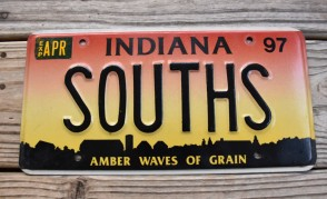 Indiana Amber Waves of Grain License Plate 1997