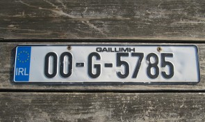 Ireland Euro Band License Plate Gaillimh IRL 00 G 5785