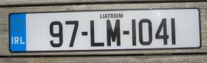 Ireland Euro Band License Plate Liatroim IRL 97 LM 1041