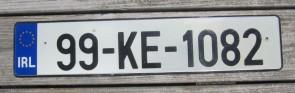 Ireland Euro Band License Plate 99 KE 1082
