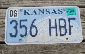 Kansas Seal License Plate 2015