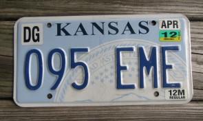 Kansas Seal License Plate 2012