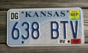 Kansas Seal License Plate 2013