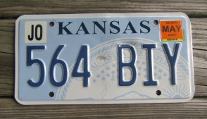 Kansas Seal License Plate 2014