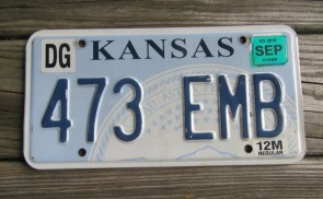 Kansas Seal License Plate 2016