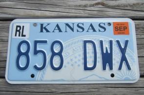 Kansas Seal License Plate 2014