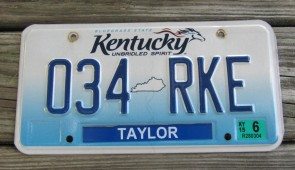 Kentucky Unbridled Spirit License Plate 2015