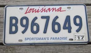 Louisiana Sportsman's Paradise License Plate 2017