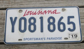 Louisiana Sportsman's Paradise License Plate 2019