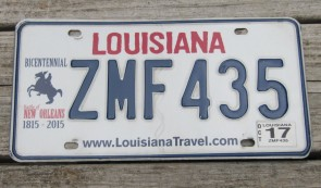 Louisiana License Plate Sportsman's Paradise 2018