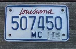 Louisiana Motorcycle License Plate Lipstick 2015