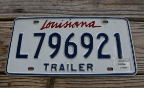 Louisiana Trailer License Plate