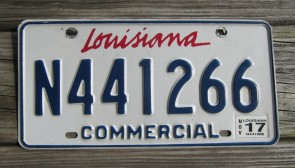 Louisiana Commercial License Plate Sportsman's Paradise 2017