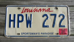 Louisiana Lipstick License Plate Sportsmans Paradise 2002