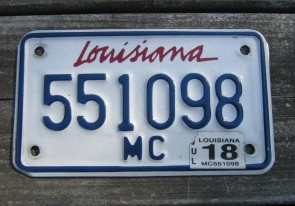 Louisiana Motorcycle License Plate Lipstick 2018