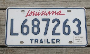 Louisiana Lipstick License Plate