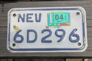 Nevada Motorcycle License Plate White Blue 2020