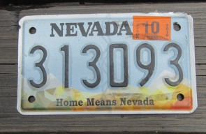 Nevada Motorcycle License Plate Home Means Nevada 2018