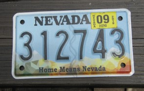Nevada Motorcycle License Plate Home Means Nevada 2019