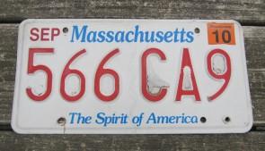 Massachusetts The Spirit of America License Plate 2010