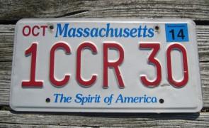 Massachusetts The Spirit of America License Plate 2014