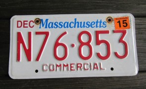 Massachusetts The Spirit of America License Plate 2015