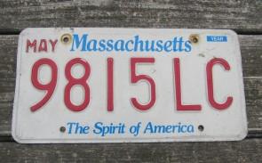 Massachusetts The Spirit of America License Plate