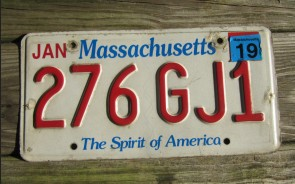 Massachusetts The Spirit of America License Plate 2019