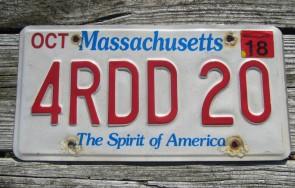 Massachusetts The Spirit of America License Plate 2018