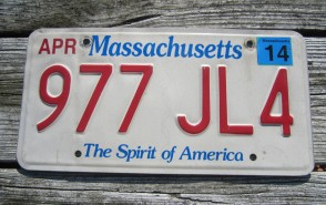 Massachusetts The Spirit of America License Plate 2014