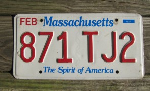 Massachusetts The Spirit of America License Plate