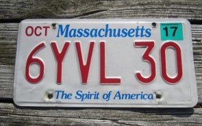 Massachusetts The Spirit of America License Plate 2017