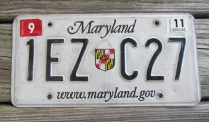 Maryland Shield Website License Plate 2011