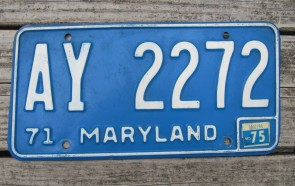 Maryland Website License Plate 2008