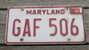 Maryland Website License Plate