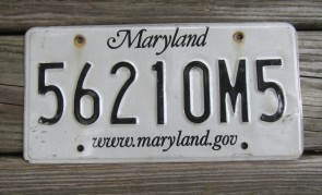 Maryland Website License Plate