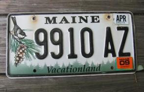 Maine Chickadee License Plate 2009