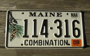 Maine Chickadee License Plate 2009