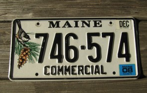 Maine Chickadee License Plate 2008