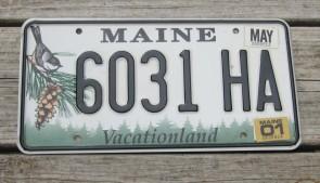 Maine Chickadee License Plate 2018