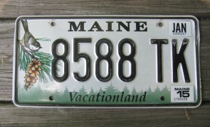 Maine Chickadee License Plate 2015