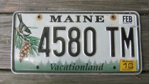 Maine Chickadee License Plate 2016