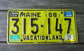 Maine Motorcycle License Plate Ride Safe 2019
