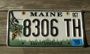 Maine Chickadee License Plate 2013