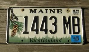 Maine Chickadee License Plate 2013