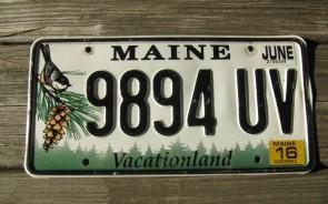 Maine Chickadee License Plate 2016